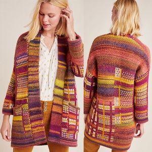 RARE ANTHROPOLOGIE Tavia Longline Knit Cardigan L